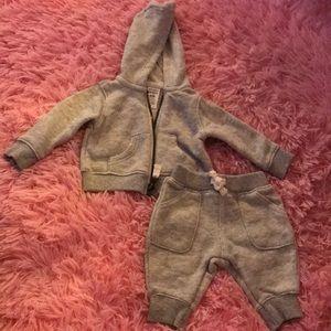 Carter's Matching Sets - Carter's gray sweatsuit